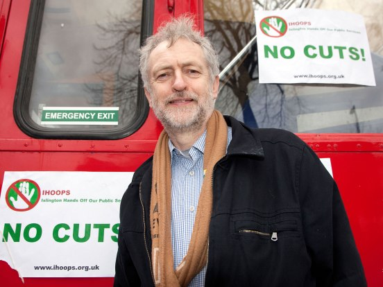 Left-winger Jeremy Corbyn campaigns against a Labour Council with a 47-1 majority (the one non Labour councillor is a Green).