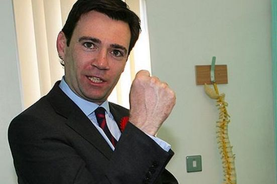 Burnham clenched fist